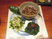 糸桜・ナムル・三種盛り