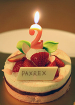 PAXREX、2歳になりました