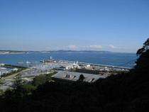 展望台からは相模湾と三浦半島が