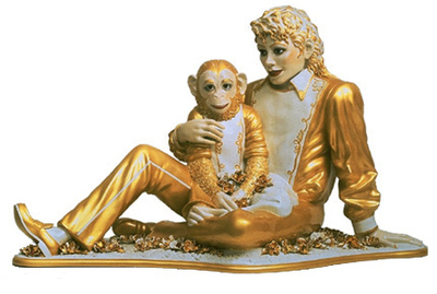 Jeff Koons「Michael Jackson and Bubbles」