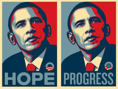 Shepard Faireyによる選挙ポスター