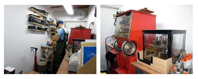 年期の入った機械はそのままに、キレイに改装されています