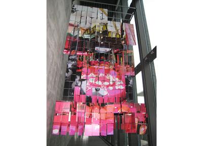 兵庫県立美術館での展示。笠木絵津子さんの時空写真