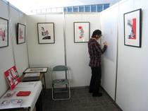 PECHUさんは金魚シリーズを中心に展示