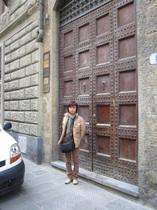 フィレンツェ・ロングステイ時のアパート、入口