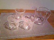「ホトトギス」にて購入したグラスとピッチャー
