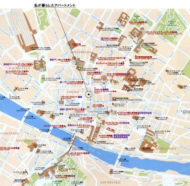 フィレンツェ中心部(チェントロ)地図※クリックして拡大して見てね