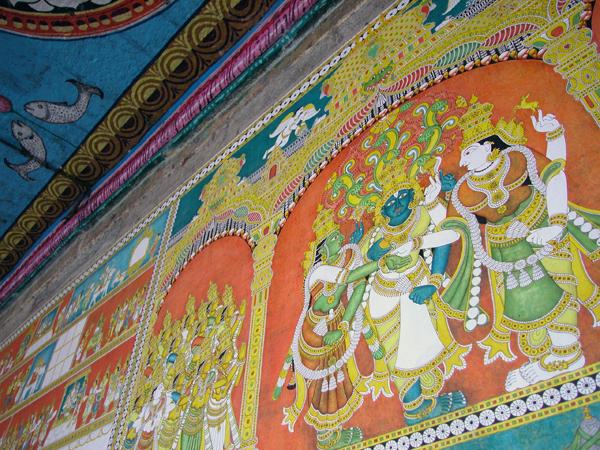 ミーナークシー・スンダレーシュワラ寺院(Minakshi Sundareshwara Temple)のペインティング