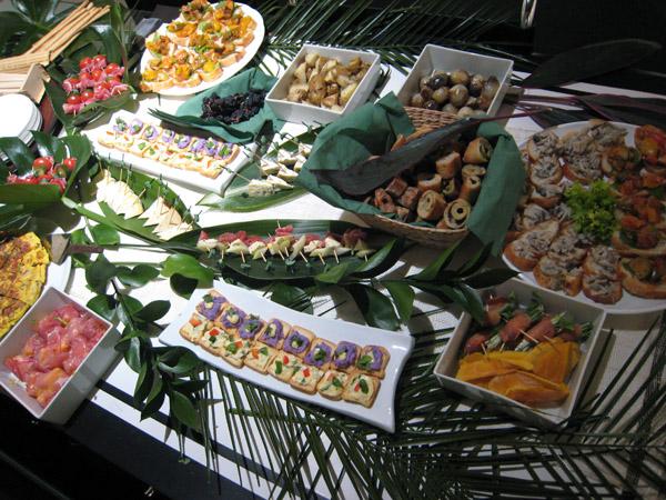 昨日のパーティーで出された料理の数々