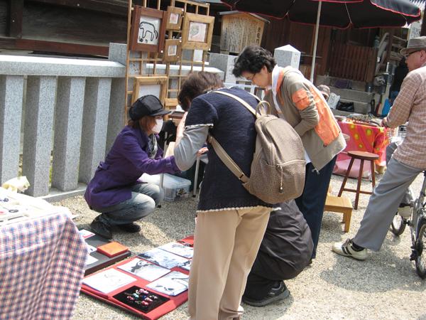 大阪天満宮「アート&クラフトマーケット」のPECHUブース